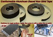 aluminum conformable non skid tape for tread plate or diamond plate