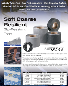 Soft Resilient BAREFOOT Non Skid Tape BLACK, WHITE, GREY (CASES)
