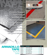 "ARMADILLO Warehouse Floor Marking Tape - 3"" x 108' Rolls"