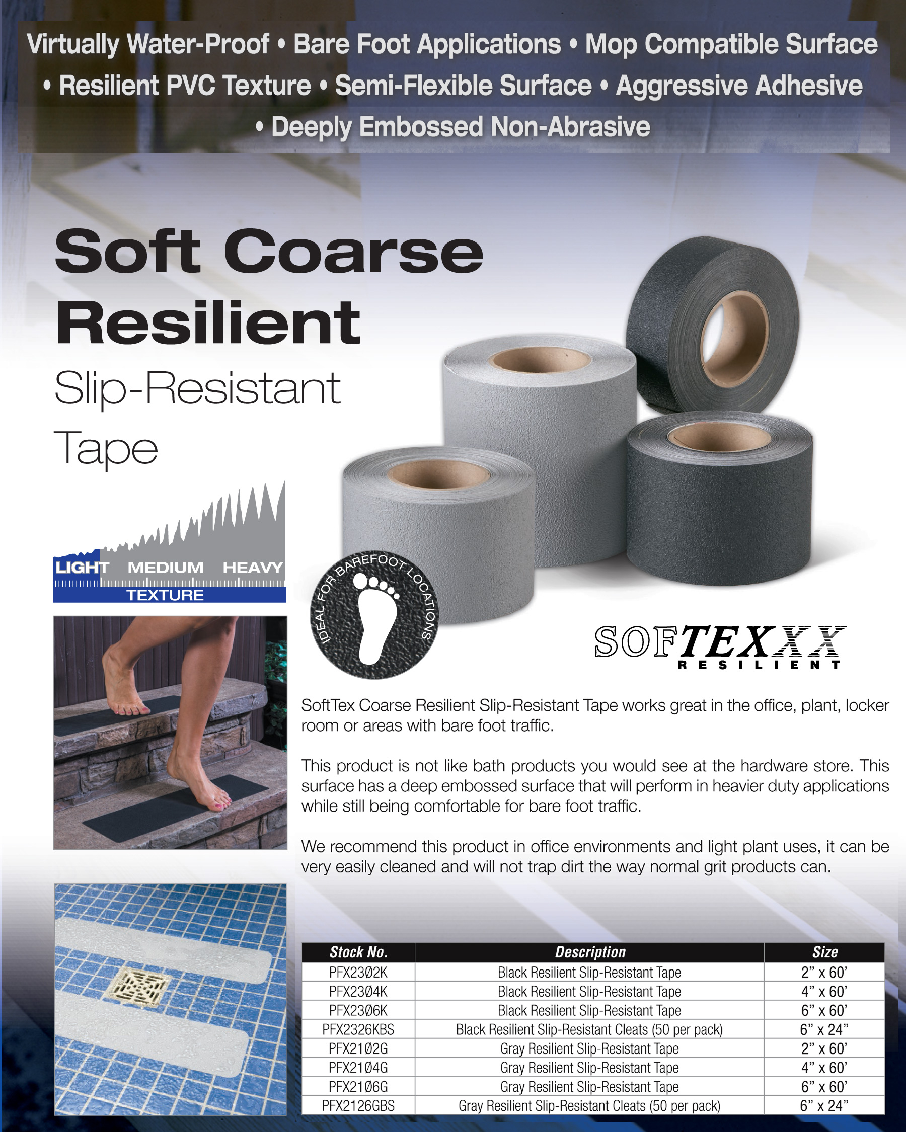 soft resilient bath tub shower barefoot non skid tape