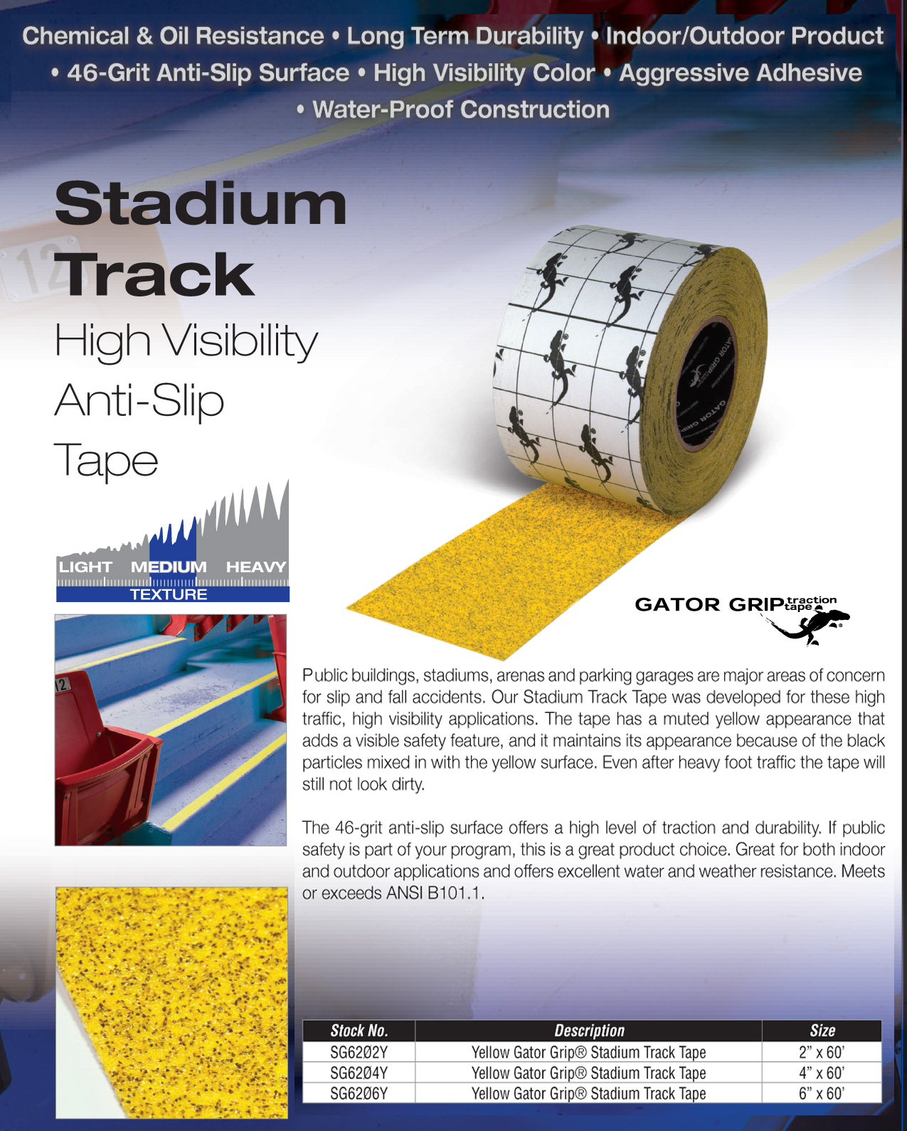 stadium grip non skid tape yellow