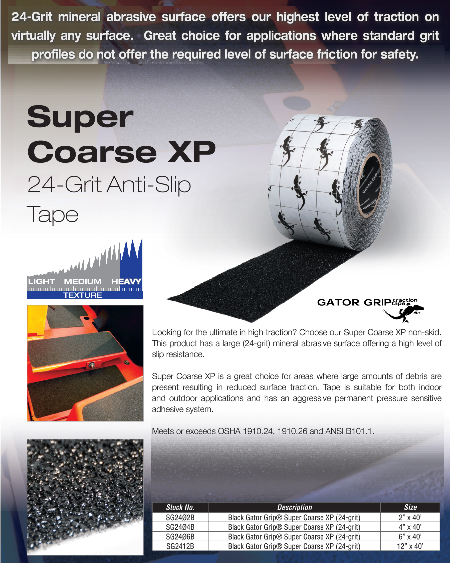 Super Coarse Heavy Duty Non Skid Tape Black
