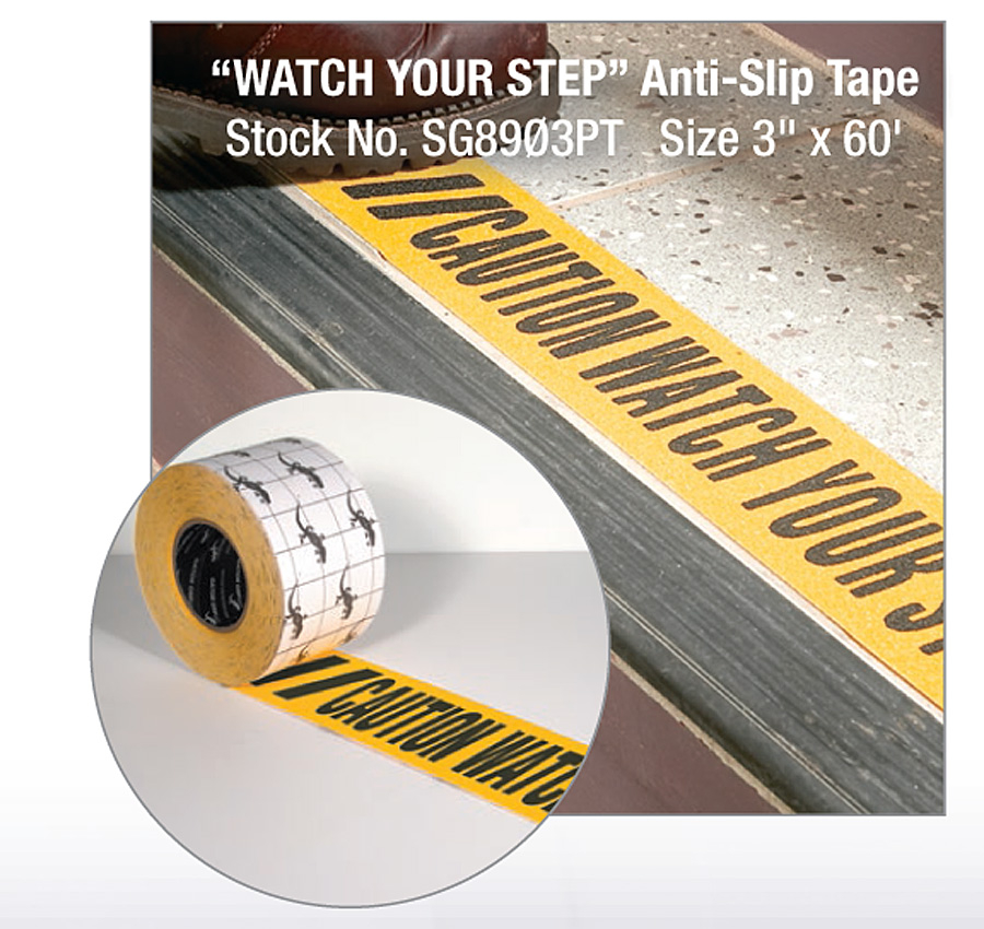 wys watch your step non skid tape yellow black